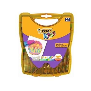 Bic Yağlı Pastel 24Lü Sert Plastik Kutu Renkli